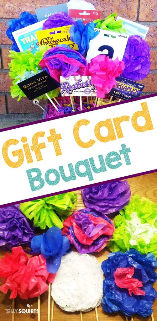 Diy Gift Card Bouquet With Tissue Paper Flowers My Silly Squirts