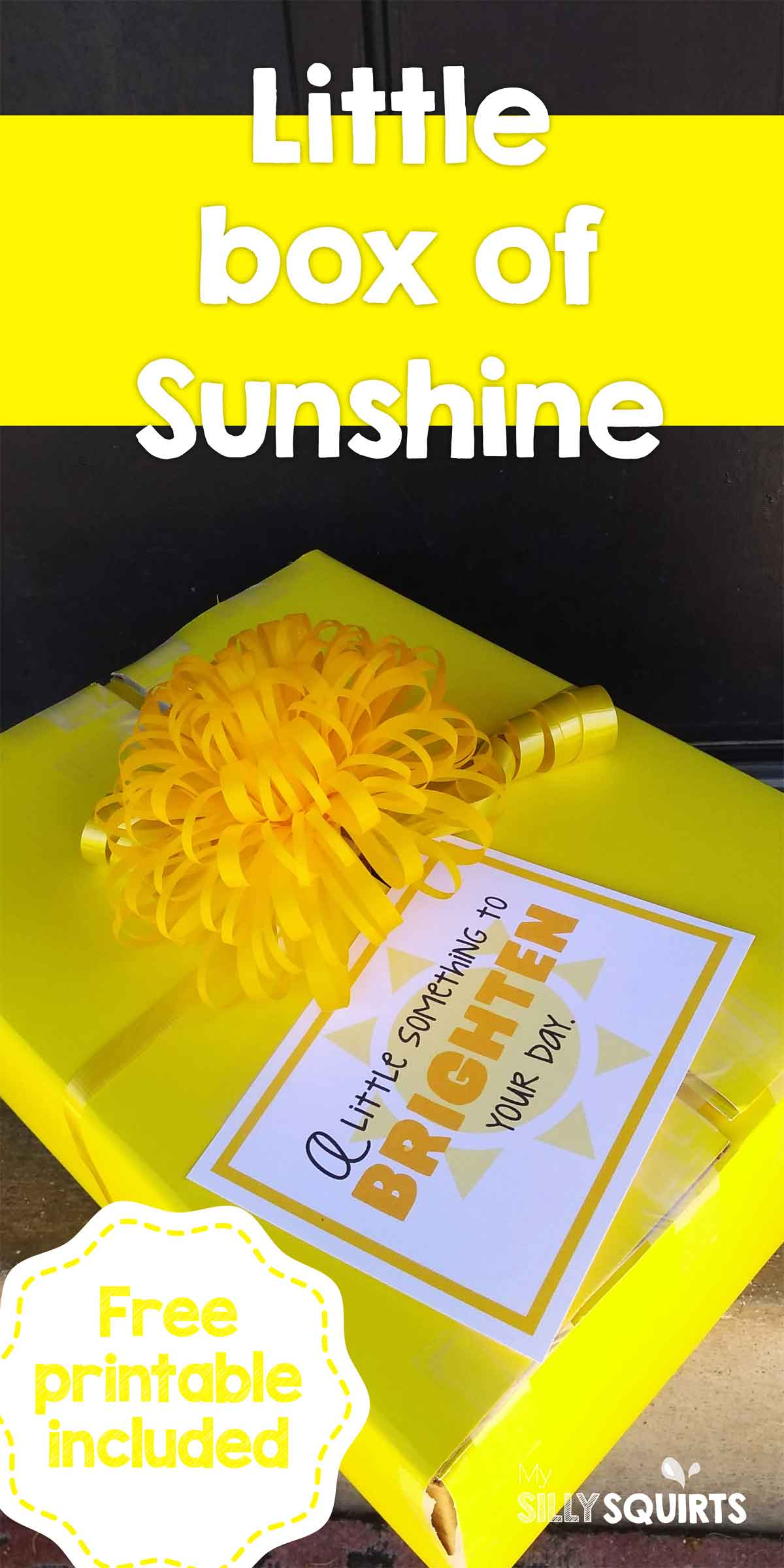 picture relating to Box of Sunshine Printable named Cheer up a good friend with a minor box of sunlight My Foolish