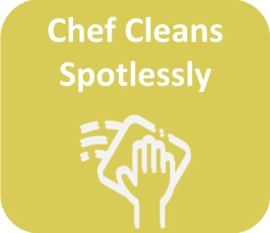 chef cleans spotlessly