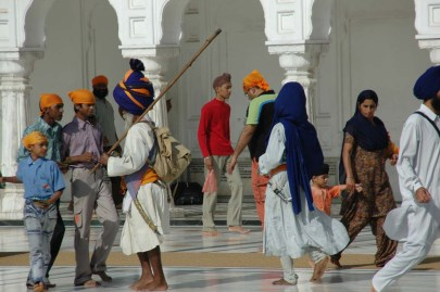 The Golden temple Amritsar people