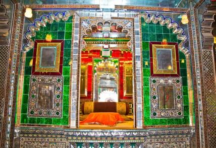 Inside decoration of city palace Udaipur