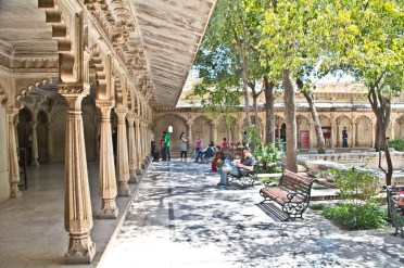 Veranda of city palace Udaipur