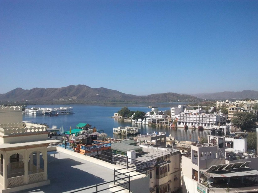 View from roof of Haveli hotel Udaipur