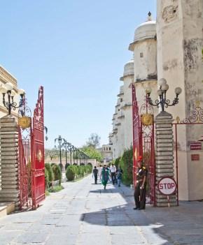 Inside gate of city palace Udaipur