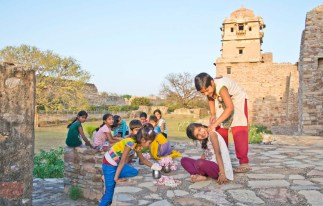 Chittorgarh fort kids