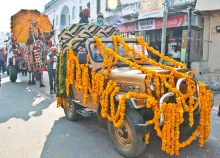 Pushkar camel fair decorated jeep