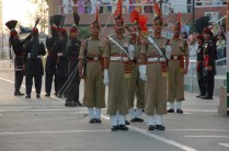 BSF guards at Attari wagah border