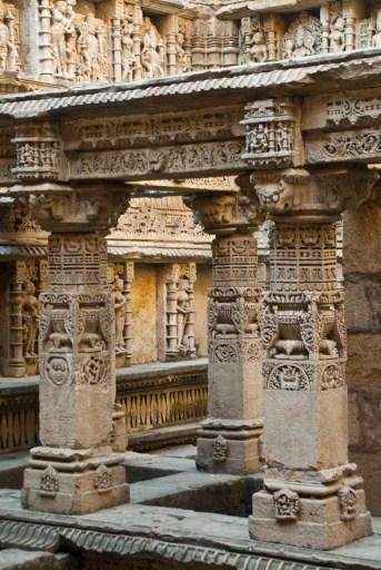 Statues on the walls of Rani ki Vav