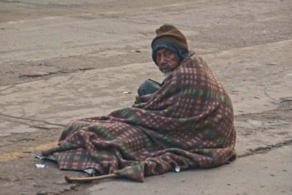 Sleeping on roadside