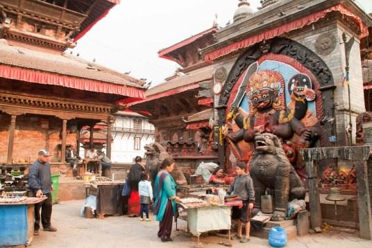 Kal bhairav in Darbar Square Kathmandu Nepal