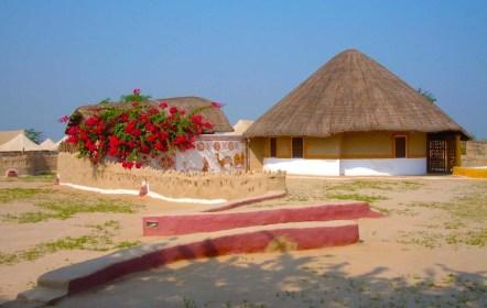 Hut overview Shaam-e-Sarhad Village Resort Kutch Gujarat