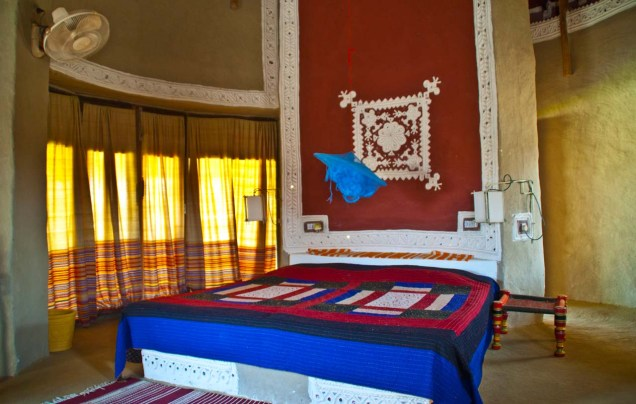 Inside hut Shaam-e-Sarhad Village Resort Kutch Gujarat