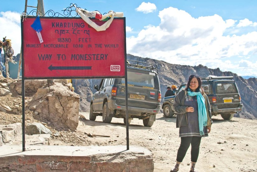 I at Khardungla pass in Ladakh