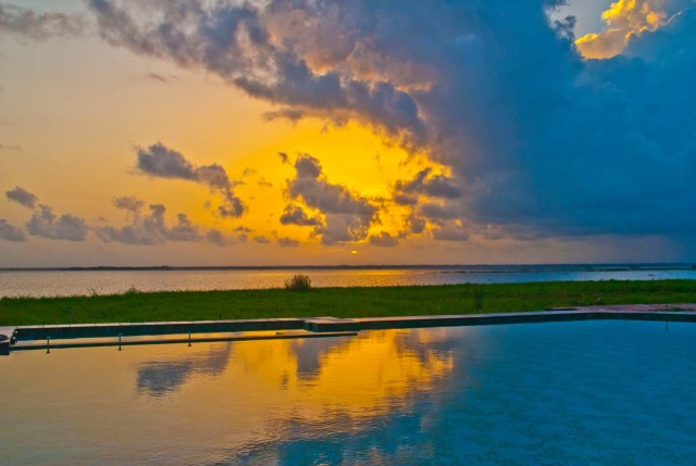Sunset at Waterscapes KTDC Backwater Resort