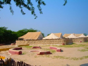 Tent overview Shaam-e-Sarhad Village Resort Kutch Gujarat
