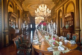 Things to do in Hyderabad India Falaknuma Palace dining hall