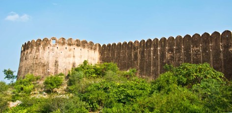 Wall of Nahargarh fort jaipur