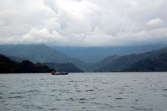 Hills Phewa Lake Pokara Nepal