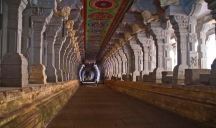 Corridors of Ramanathaswamy temple