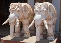 Elephants statue at Vivekanand rock Kanyakumari