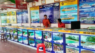 Boat booking counter Serendipity beach