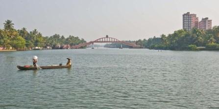 Bridge near Amritapuri in the Kerala Backwaters