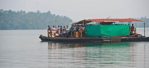 Ferry for crossing the Kerala Backwaters