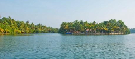 Island in the Kerala Backwaters