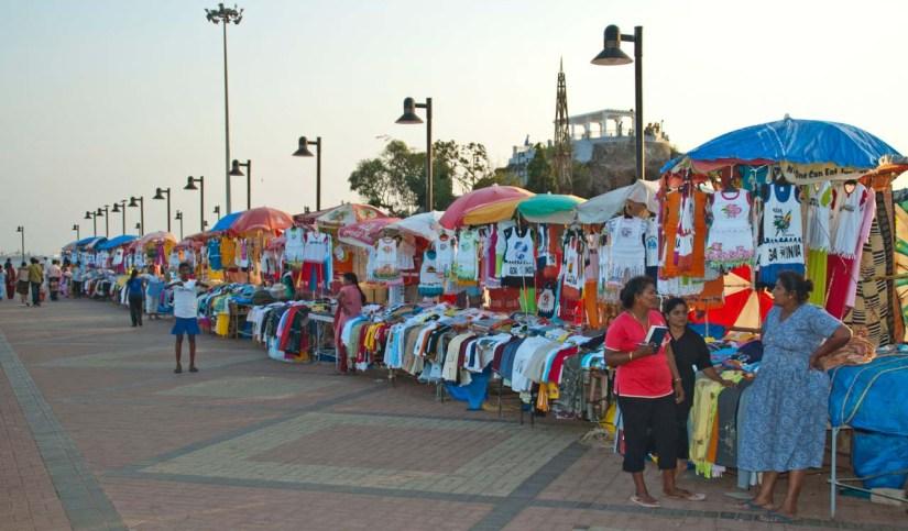 Stalls at Dona Paula Goa