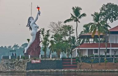 Statue in the Kerala Backwaters