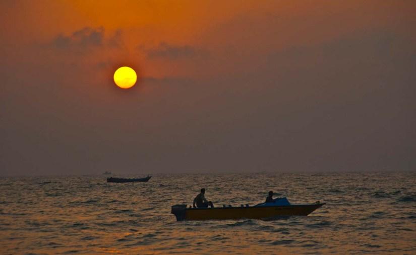 Sunset at Calangute Beach Goa
