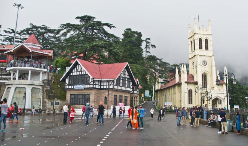 Christ Church and library Shimla Overview