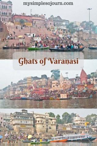 Ghat of Varanasi and Ganga River
