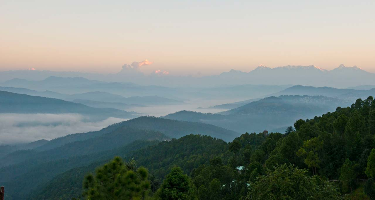 Mountains at Satkhol Himalayan Ashram