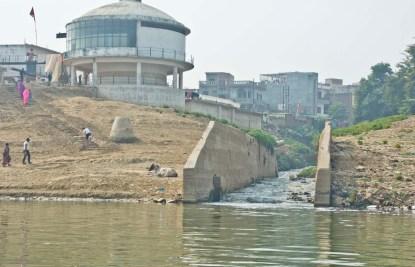 Sevage water in Ganga River