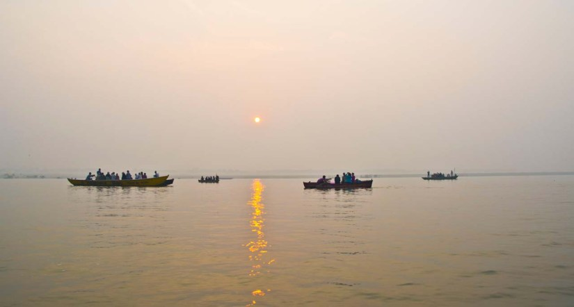 Sunrise at Ghats of Varanasi
