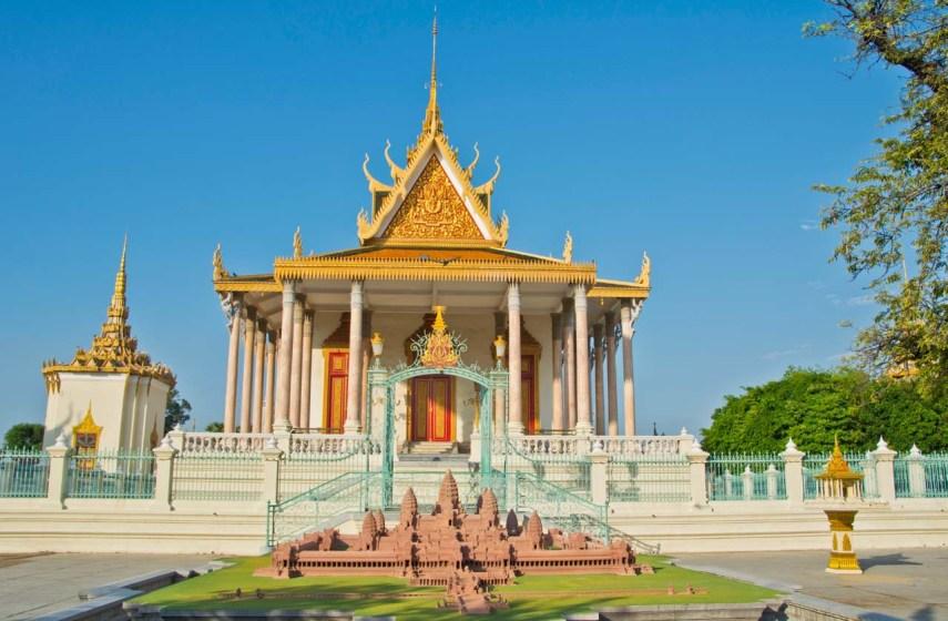 Model of Angkor wat in Silver Pagoda Phnom Penh