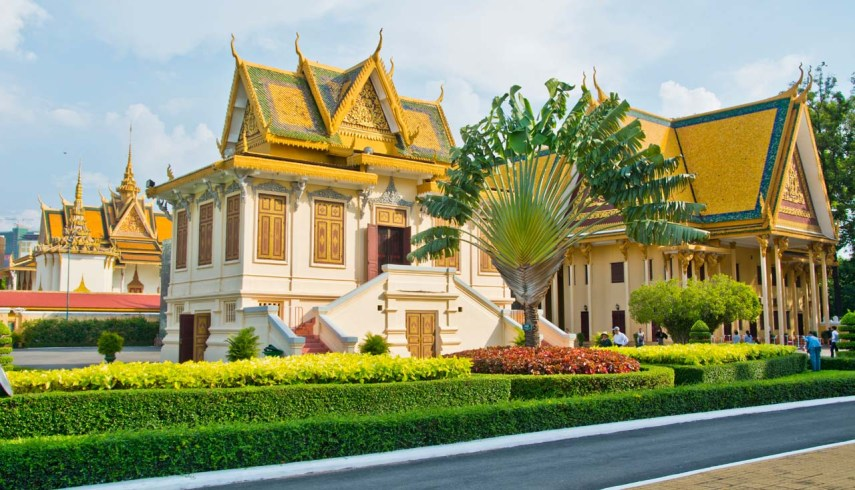 Structure in Royal Palace Phnom Penh Cambodia
