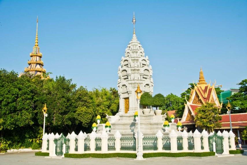 Stupa in Silver Pagoda Phnom Penh