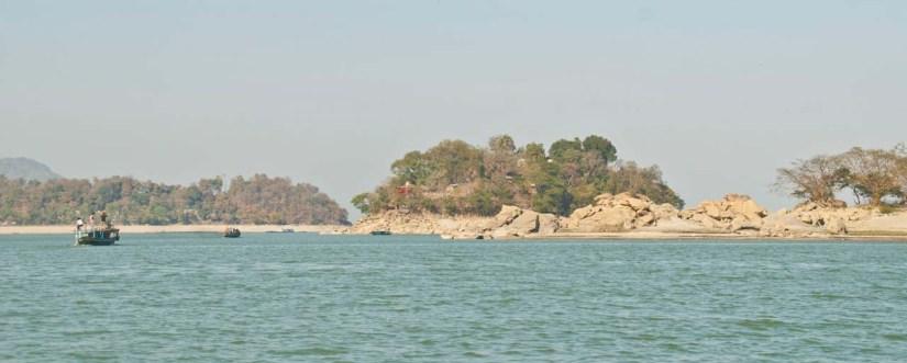 Peacock Island in Bhramaputra river Guwahati