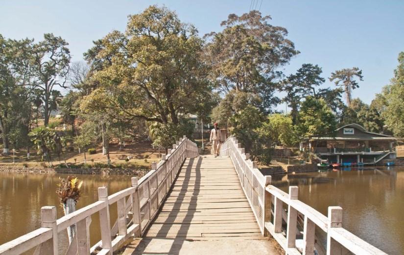 Bridge in Ward lake Shillong