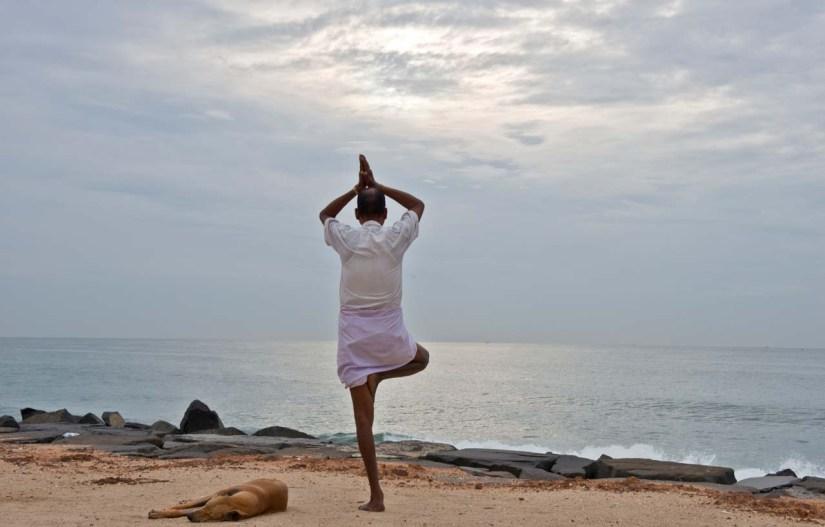 Yoga at Promenade Beach