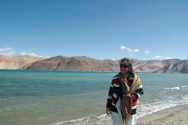 I am at Pangong Lake Inner Side