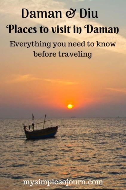 Mumbai to Daman, Places to visit in Daman and practical tips