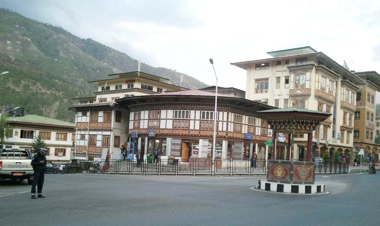 Police man in Thimpu