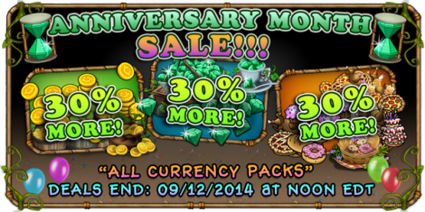 Anniversary month sale