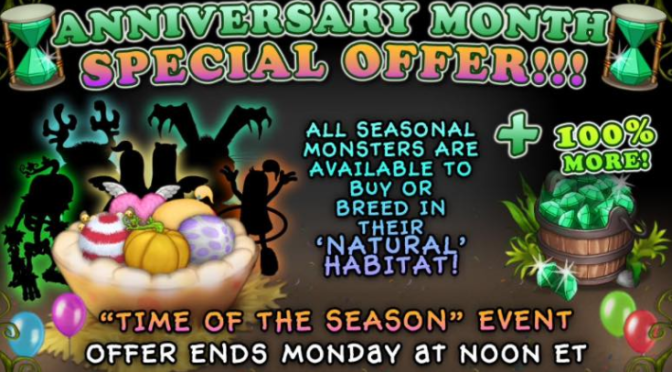 Anniversary Month: Special Seasonal Offer