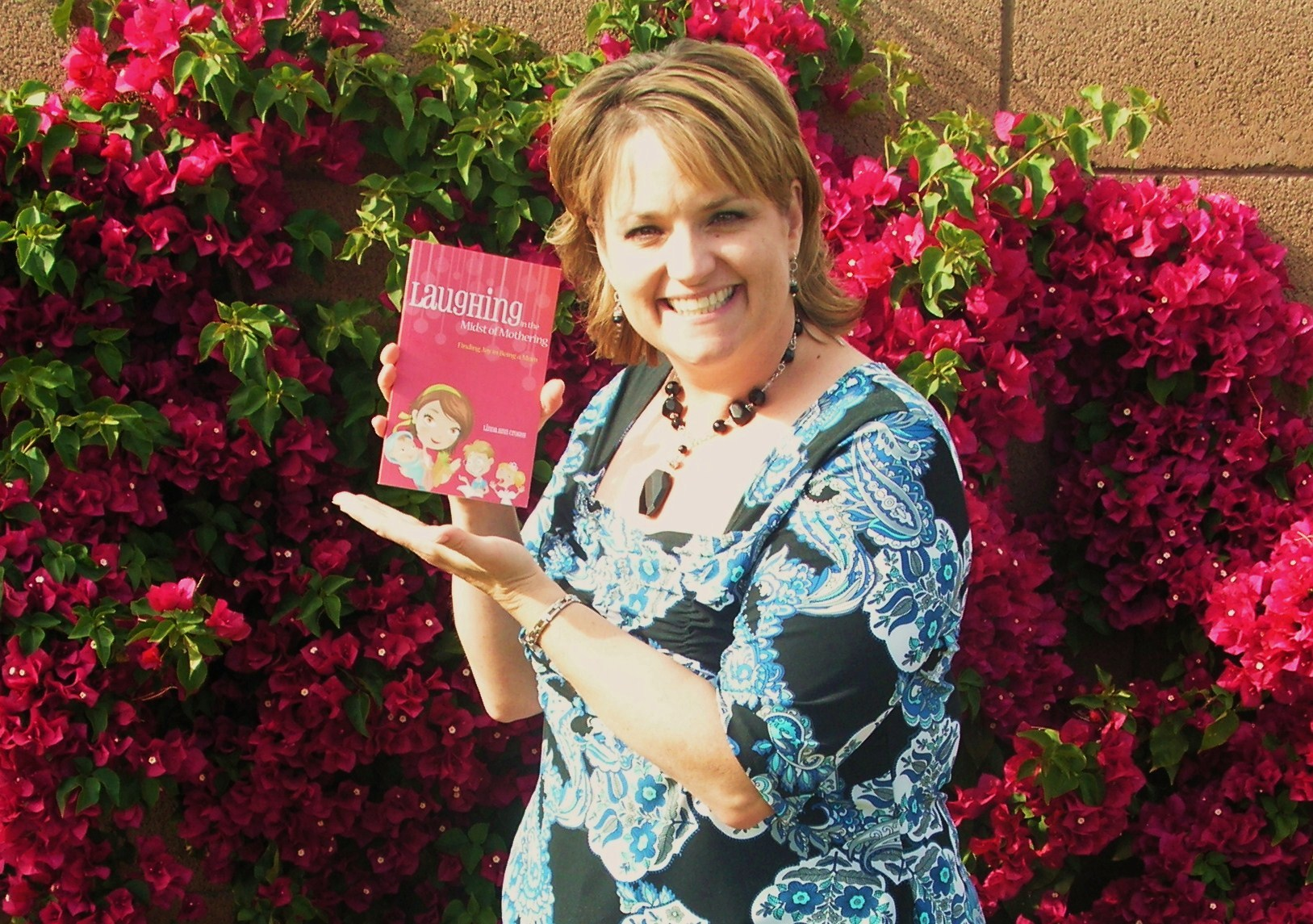 My Book!  And my bougainvilla that is going crazy!