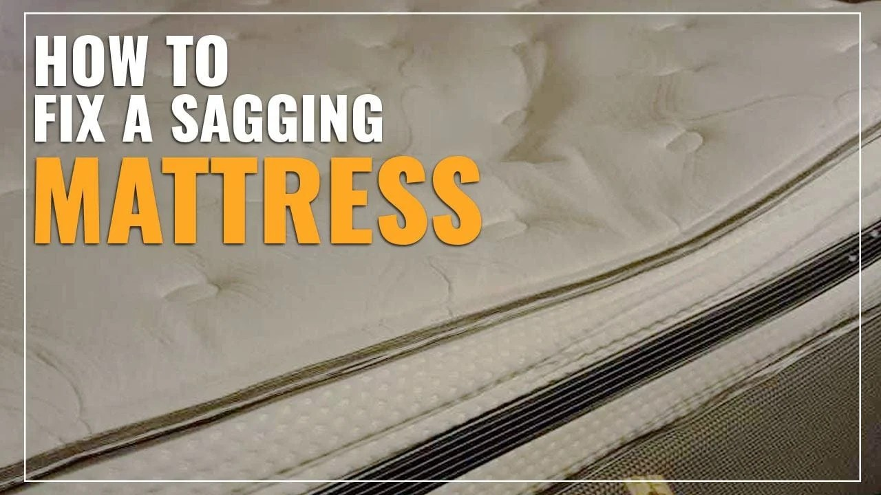 how to fix a sagging mattress easy
