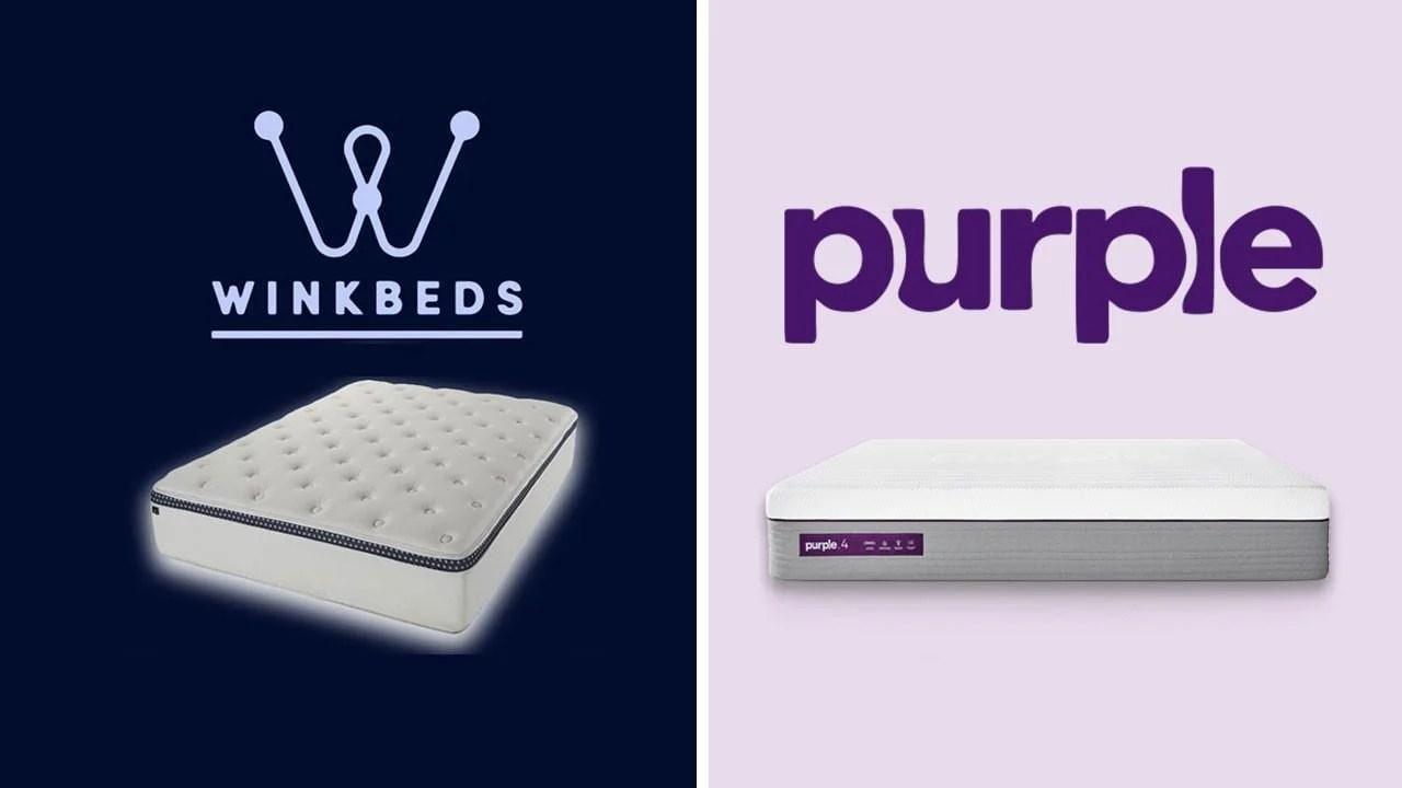 WinkBed vs Purple  Mattress Review Comparison Guide